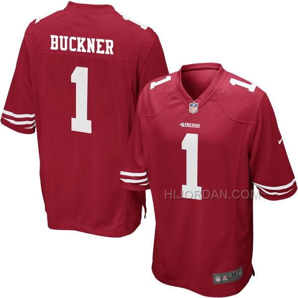 https://www.hijordan.com/nike-49ers-1-deforest-buckner-red-2016-draft-pick-elite-jersey.html Only$25.00 #NIKE 49ERS 1 DEFOREST BUCKNER RED 2016 DRAFT PICK ELITE JERSEY Free Shipping!