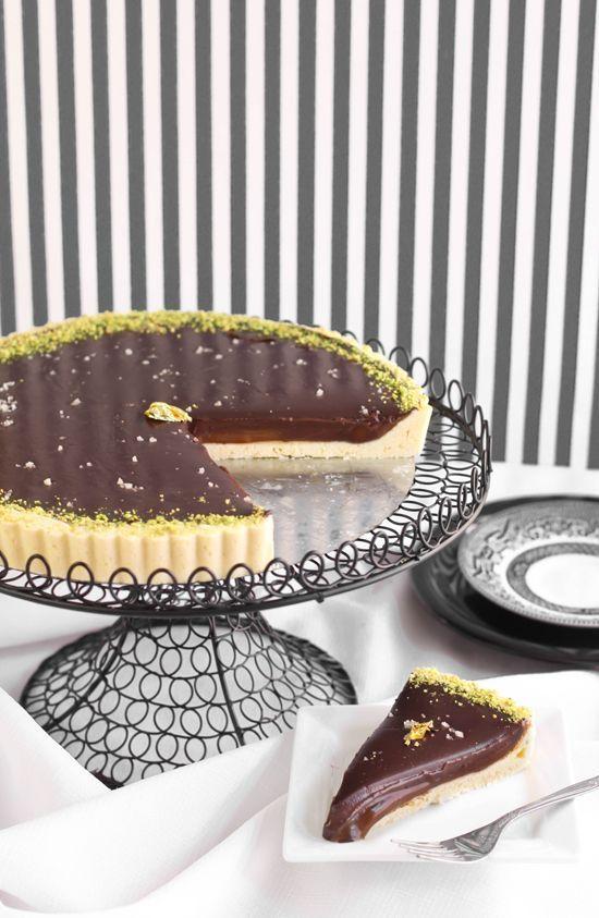 Sea Salted Chocolate-Caramel Tart Chocolates Caramel Tarts, Caramel ...