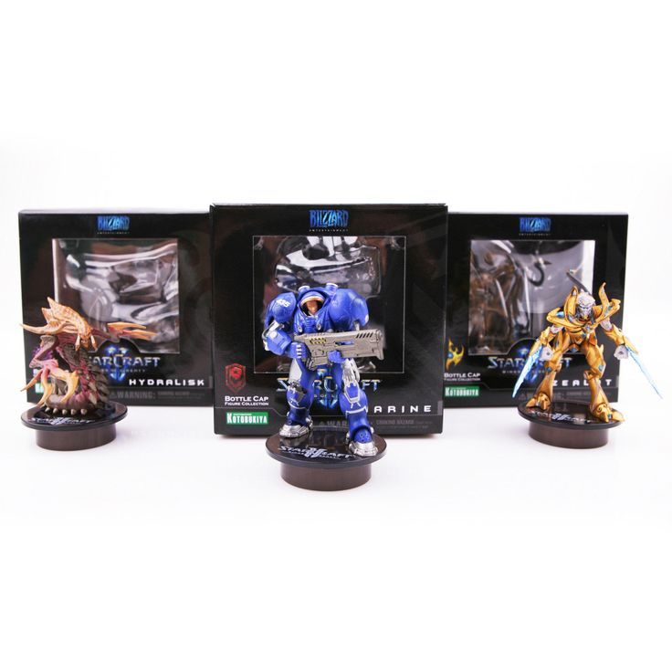 30% OFF!! [STARCRAFT 2]Kotobukiya (Marine Hydralisk Zealot) 3Set Bottle Cap Collect Figure