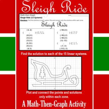Sleigh Ride - A Math-Then-Graph Activity - 15 Systems