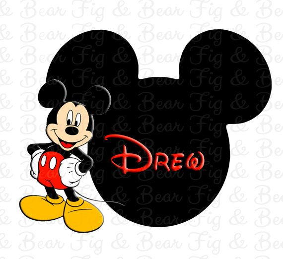 Disney Mickey Mouse Personalized T Shirt Iron On Transfer