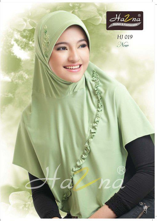 Jilbab Cantik hijau