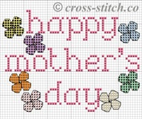 Cross stitch Mothers day card
