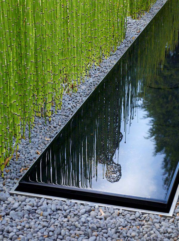 Modern Landscaping By Anthony Paul Landscape Design Good Detail Of Water  Feature Against Pool Edge   My Garden
