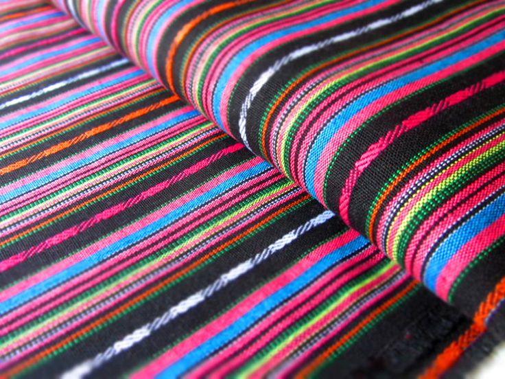 Mexikanischer Ethno Stoff - black { Ikat Muster } von miss minty auf DaWanda.com