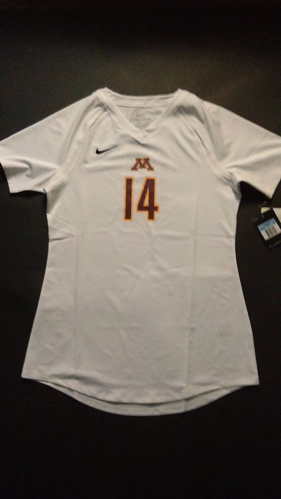 Women's Nike Minnesota Golden Gophers Volleyball Jersey Medium M Short Sleeve #Nike #Jerseys