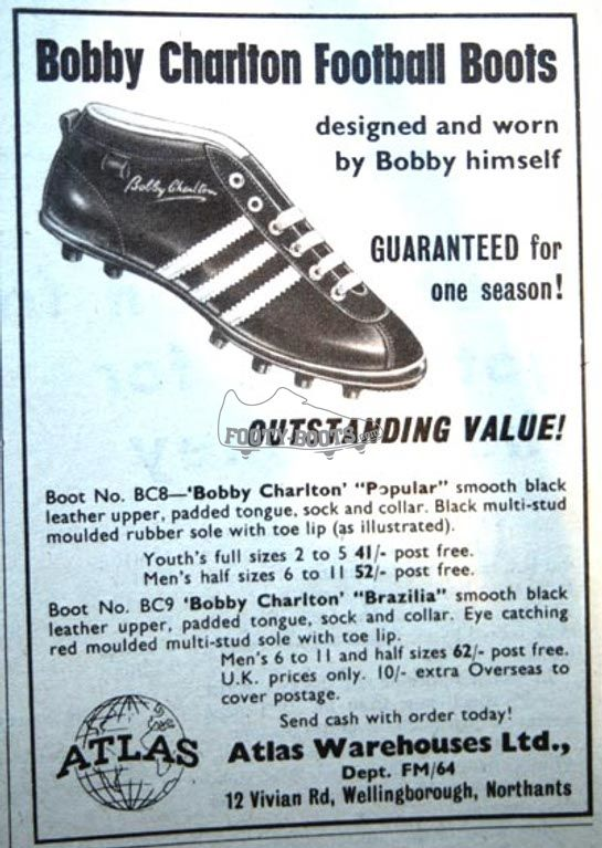 Google Image Result for http://www.footy-boots.com/files/2009/03/bobby-charlton-football-boots.jpg  #UltimateTailgate #Fanatics