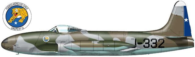 Lockheed F-80C from 12th Group of Chilean Air Force. Source: Wings Palette.