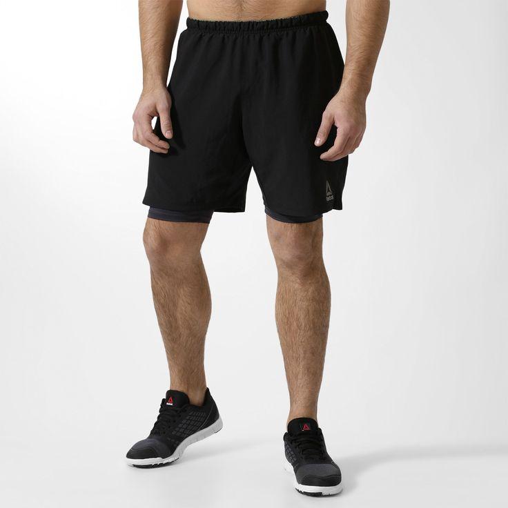 Спортивные мужские шорты RUNNING 2 В 1 Reebok BQ9917 | купить Рибок.