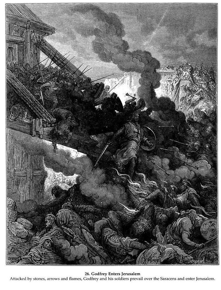 Godfrey Enters Jerusalem - Gustave Dore