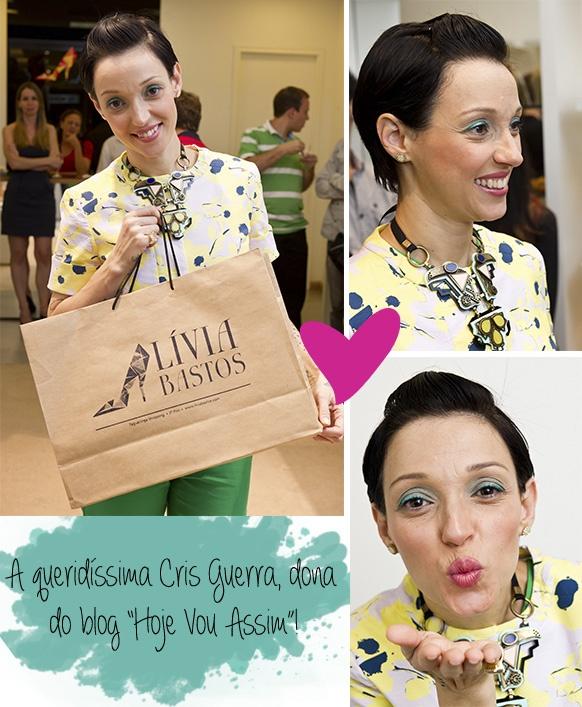 A blogueira Cris Guerra na inauguração da loja Lívia Bastos e no lançamento da 2ª Edição da Revista Taguatinga Shopping!