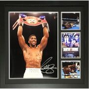 #All Star Signings Anthony Joshua Signed and Framed 16 x 20 #Anthony Joshua won the IBF heavyweight title in April 2016, having previously held the British, Commonwealth, and WBC International heavyweight titles. As an amateur he represented Great Britain at the 2012 Olympics, winning a gold medal in the super-heavyweight division. Joshua is the second British boxer, after James DeGale, to win both a gold medal at the Olympics and a world title by a major professional sanctioning body, as…