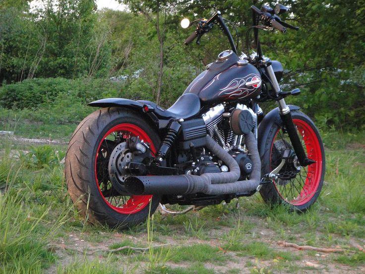 Paul's Harley Davidson Dyna with extended Voodoo Fender | Rocket Bobs
