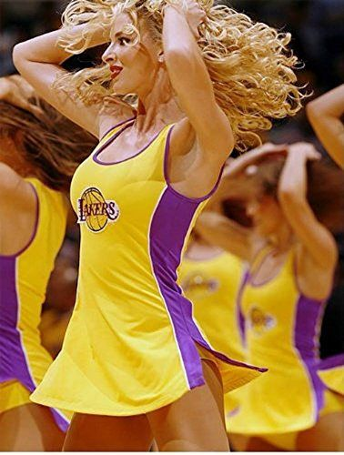 Los Angeles Lakers Laker Girls Cheerleader Costume Tank Dress (Juniors Small) - Click image twice for more info - See a larger selection of women tv and movie costumes at  http://costumeriver.com/product-category/womens-tv-movie-costumes/ - women, halloween costumes, halloween fashion , classic costume, holidays, event, trick or treat , gift ideas, costumes, disguise