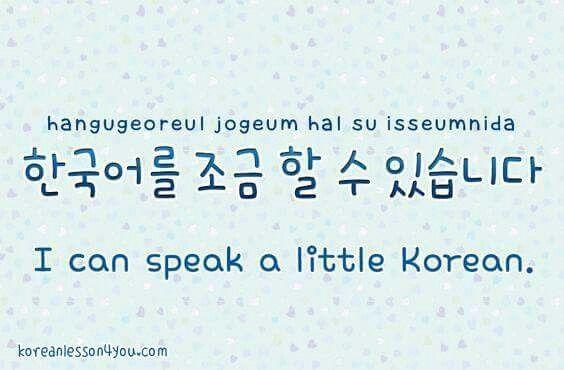 I can speak a little korean.