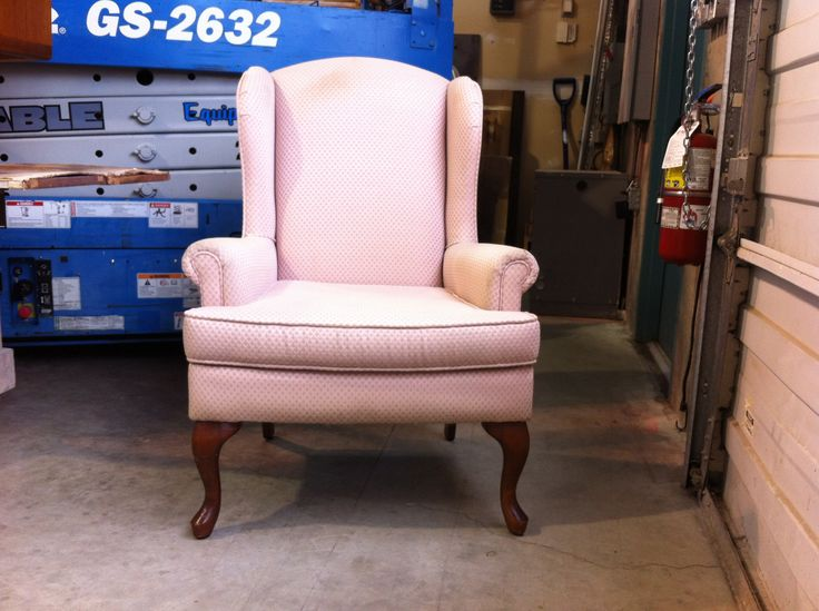 #wing #chair the before. To be #reconstructed, #refinished and #reupholstered by AM Furniture Finishing