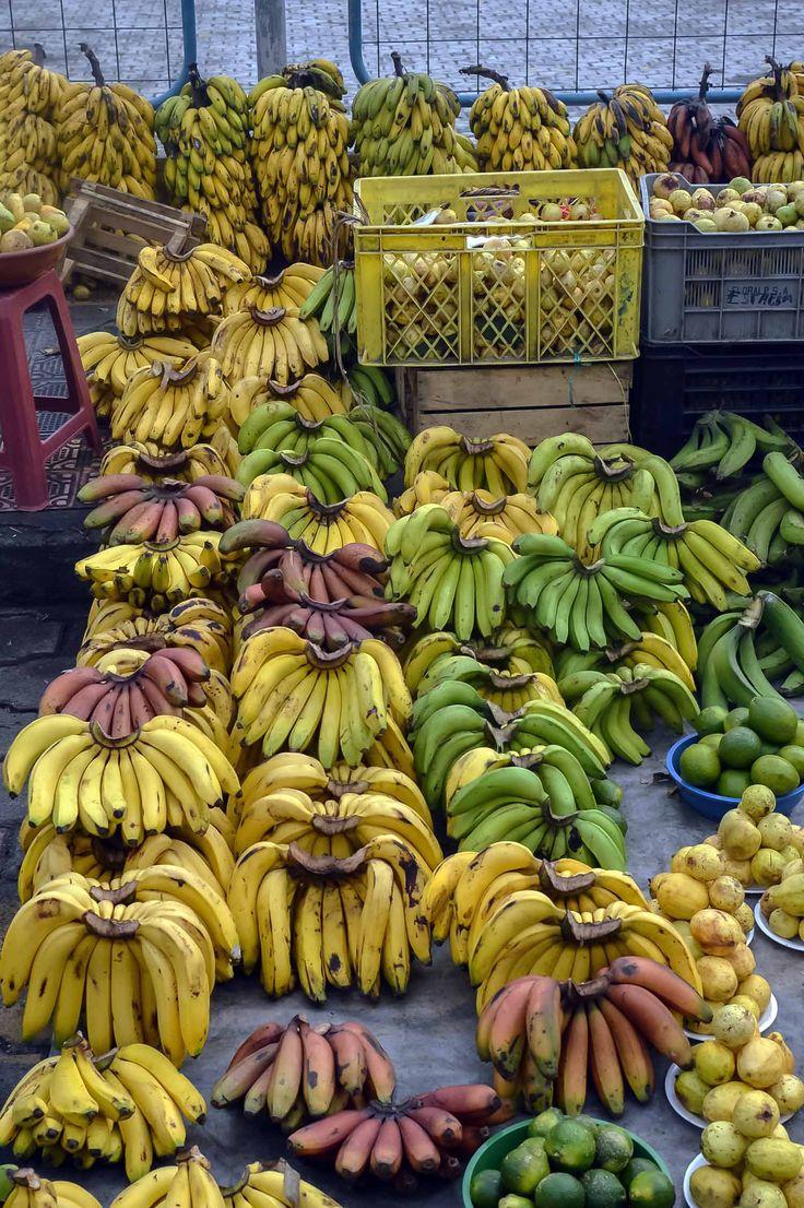 Bananas and plantains at Otavalo Market, Ecuador | heneedsfood.com