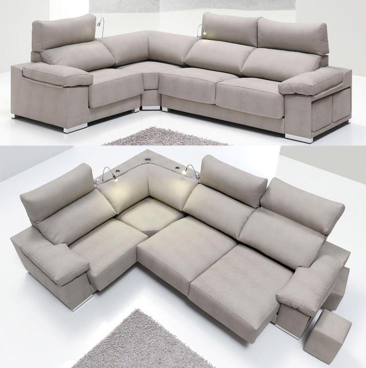 Ber ideen zu sofas rinconeras auf pinterest for Sofa cama chaise longue piel
