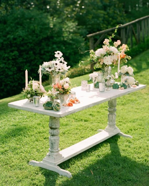 Wedding Altar Outside: A Week Before The Wedding, The Idea For A Beautiful Table