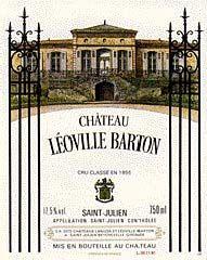 Etiquette Château Léoville Barton 1985