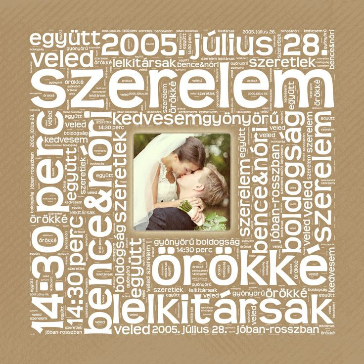BETŰKÉP Négyzet alakban, a Ti fényképetekkel Valentin-napra, házassági-vagy kapcsolat évfordulóra, / Personalized Photo Canvas with Heart Shaped words for Valentine's day or anniversity