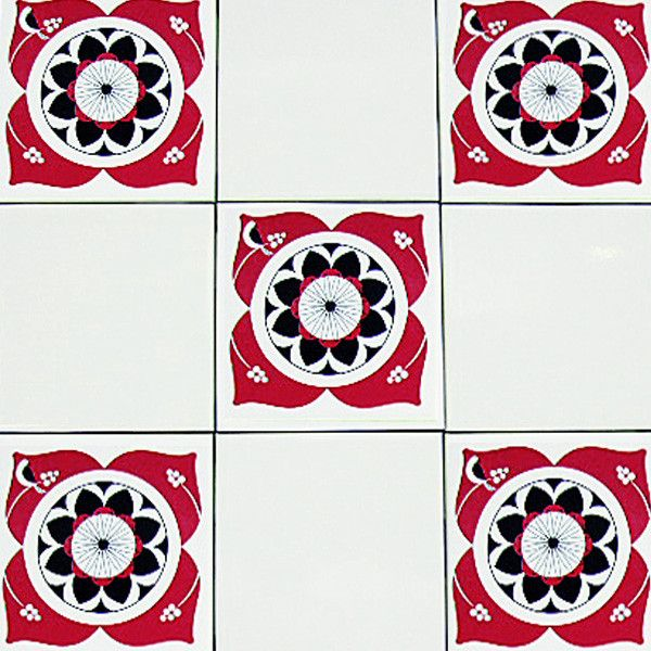 Easily Transform Your Kitchen Or Bathroom With The Mibo Bembridge Red U0026  Black Tile Decals.