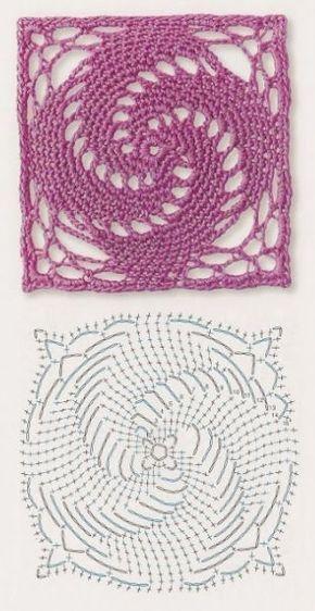 Delicadezas en crochet Gabriela: Patrones gratis ; Cuadrados de la abuela ganchillo: