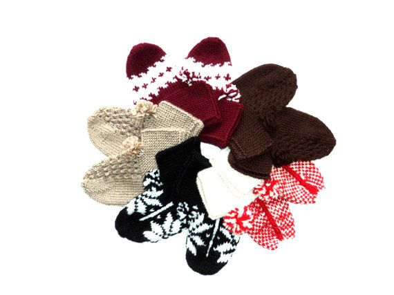 Valentines Handknitted Wool Black and white wool by aykelila, $30.00