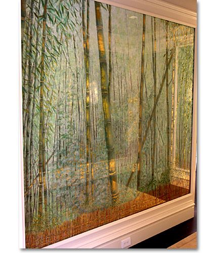 Bamboo Glass Panels : Images about gilding verre eglomise on pinterest