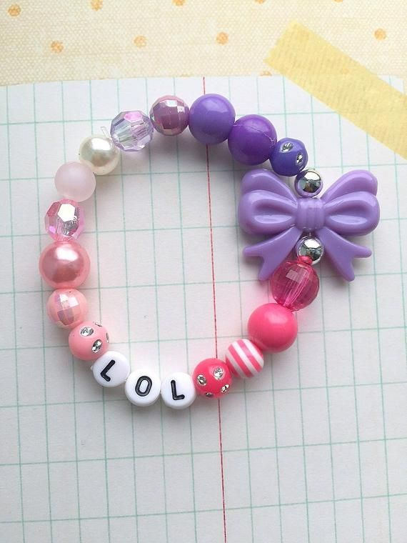 LOL birthday party, kids birthday party, birthday party favor, beaded bracelet, … – Products