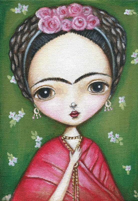 #Frida Kahlo Folk Art #Paint #Art