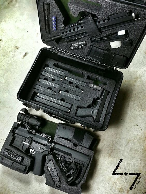 Two gun kit - defense rifle, sidearm, ammunition and accessories: