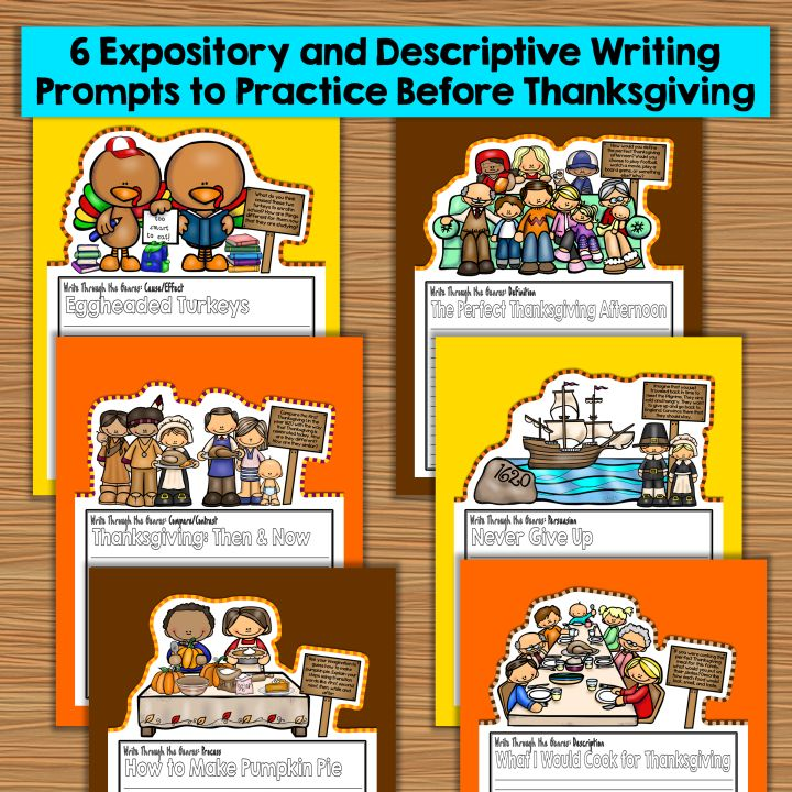 These no-prep Thanksgiving writing pages will familiarize students with the different types of writing genres in a way that is both…