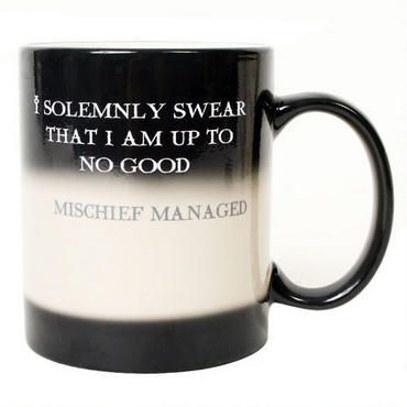 Mischief Managed Transforming Mug: Managed Transforming, Swear Mischief Managed, Stuff, Gift Ideas, Harrypotter, Harry Potter Gift, Solemnly Swear Mischief, Coffee Mugs, Harry Potter Mugs