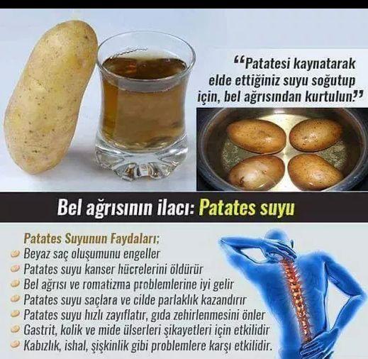 Bel Ağrıları İçin Patates Suyu