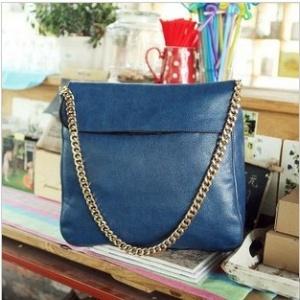 Chain Strap PU Leather Women Shoulder Bag