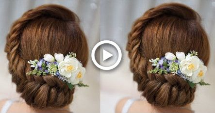 Easy Running Late Hairstyles Quick And Easy Updo Hairstyles With Braid-Elegnat Updo