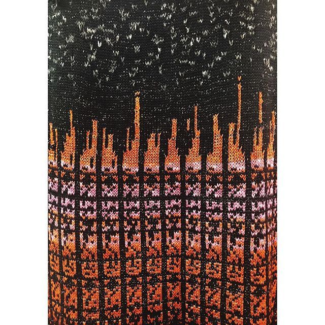 Binary coded knitting. 35 days to go... #textiledesign #textiles #knitting #knit #interstellar #communication