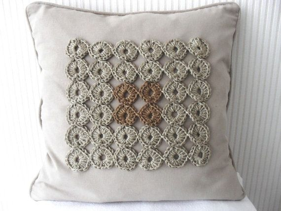 PDF Crochet Pattern Geometric yo-yo cushion door BlageCrochetDesign