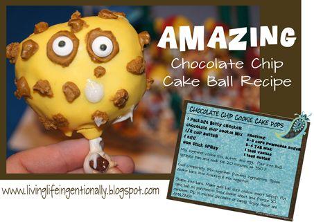 Amazing Chocolate Chip Cake Ball Recipe!