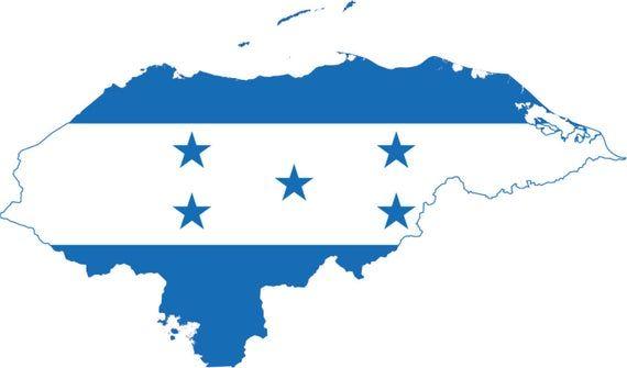 2 Pieces Honduras Outline Map Flag Vinyl Decals Stickers Full Etsy Honduras Flag Flag Flag Art