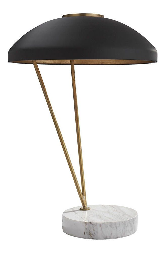 KELLY WEARSTLER   COQUETTE TABLE LAMP. Marble and burnished brass lamp