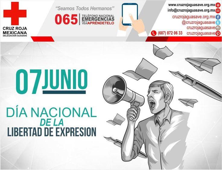 La libre manifestación de las ideas está consagrada en nuestra Carta Magna en los artículos 6º y 7º; por el gobierno del Presidente Miguel Alemán Valdéz, estableció el 7 de junio de 1951 como el Día de la Libertad de Expresión en México. #CruzRojaGuasave