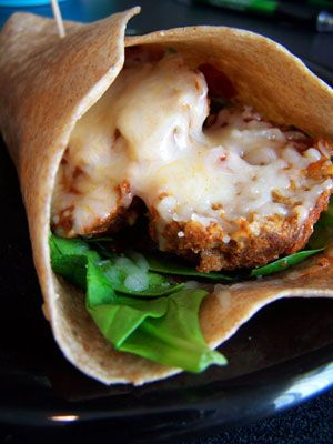 low carb ;)  meatball wrap
