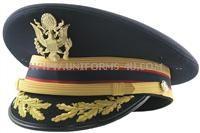 US Army Field Grade (FG) dress blue cap, worn with the ASU (Army Service Uniform).