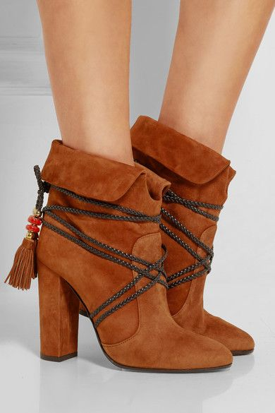 Aquazzura Suede & Mesh Ankle Boots buy cheap under $60 mgg53v
