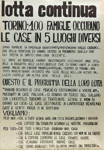 Occupazione delle case a Torino il 15 novembre 69
