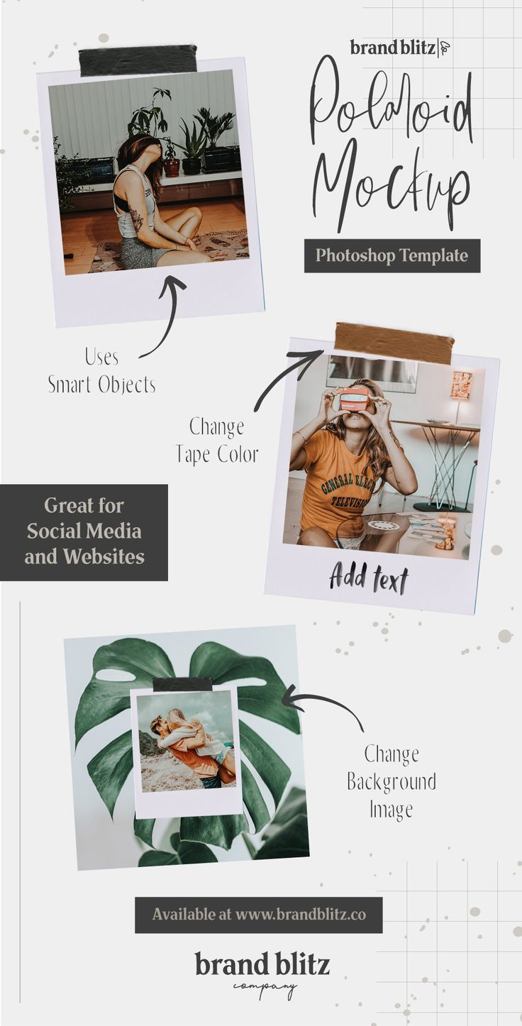Vintage Photo Frame Mockup in 2019 | Social Media | Vintage