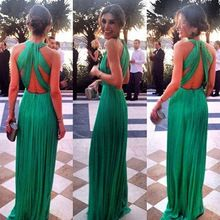 2015 Women Backless Long Evening Formal Party Ball Gown Prom Long Dress(China (Mainland))