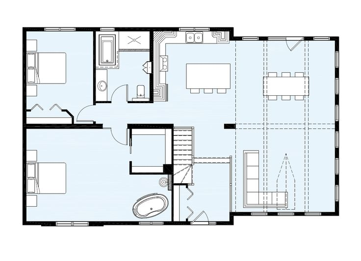 plan maison americaine 2 tages ventana blog. Black Bedroom Furniture Sets. Home Design Ideas